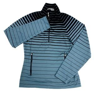 Nike Golf Dri-Fit Striped 1/2 Zip Pullover
